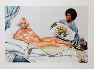 Mel Ramos - Manet's olympia - (Famous paintings)