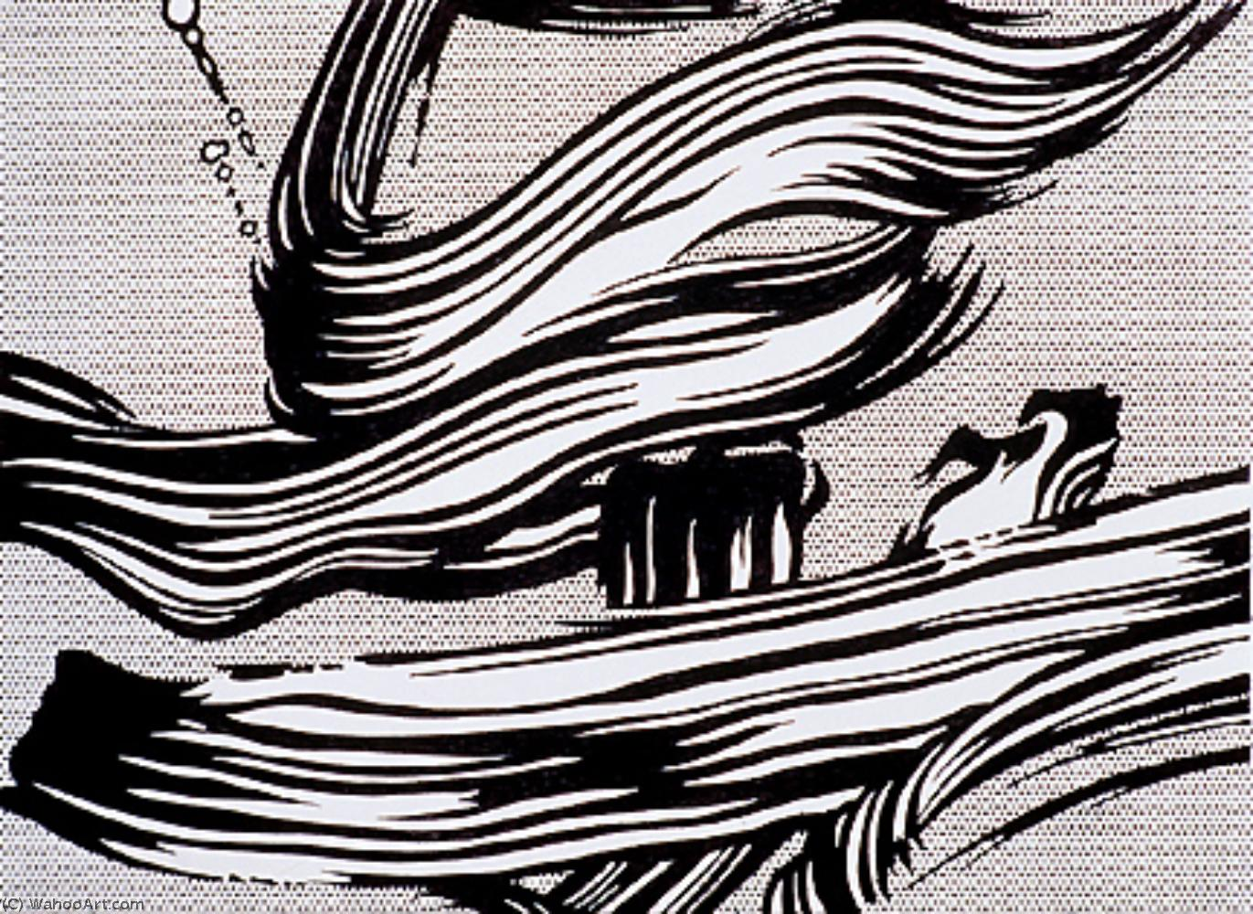 Brushstrokes by Roy Lichtenstein (1923-1997, United States) | Art Reproduction | WahooArt.com