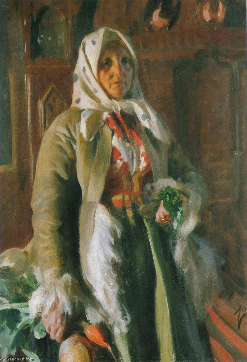Mona, 1898 by Anders Leonard Zorn (1860-1920, Sweden) | Paintings Reproductions Anders Leonard Zorn | WahooArt.com