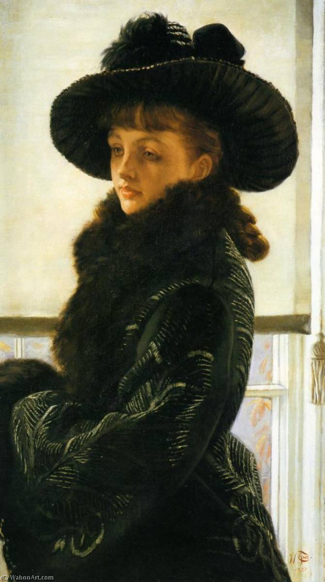 Mavourneen (also known as Portrait of Kathleen Newton), 1877 by James Jacques Joseph Tissot (1836-1902, France) | Reproductions James Jacques Joseph Tissot | WahooArt.com