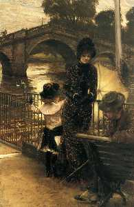 James Jacques Joseph Tissot - English By the Thames at Richmond