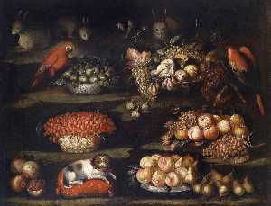 Francisco Barrera - Still Life with Animals and Fruit