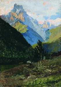 Mount Uzhba in Svanetia