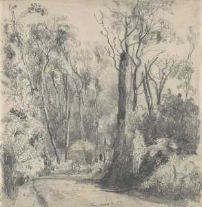 Fernshaw (also known as Bush Scene with Horse and Rider)