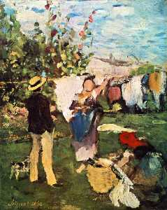 Pal Szinyei Merse - Clothes Drying