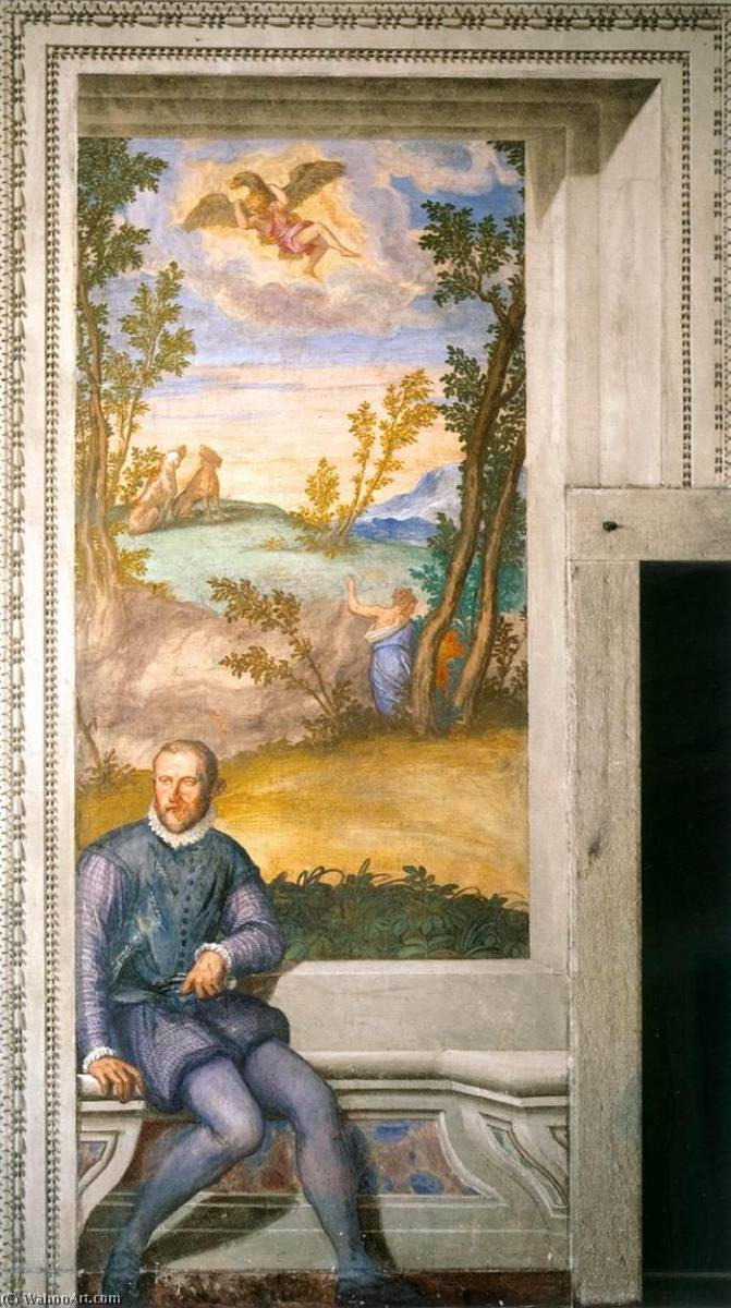 Girolamo Godi, 1561 by Givanni Battista Zelotti (1526-1578) | Museum Quality Copies Givanni Battista Zelotti | WahooArt.com