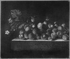 English Still Life with Strawberries
