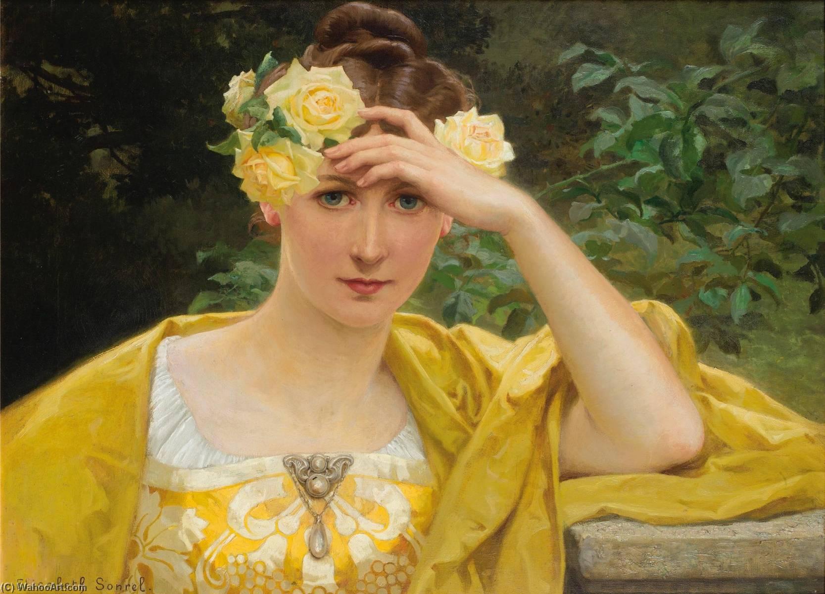 Jeune fille en jaune by Elisabeth Sonrel (1874-1953) | | WahooArt.com