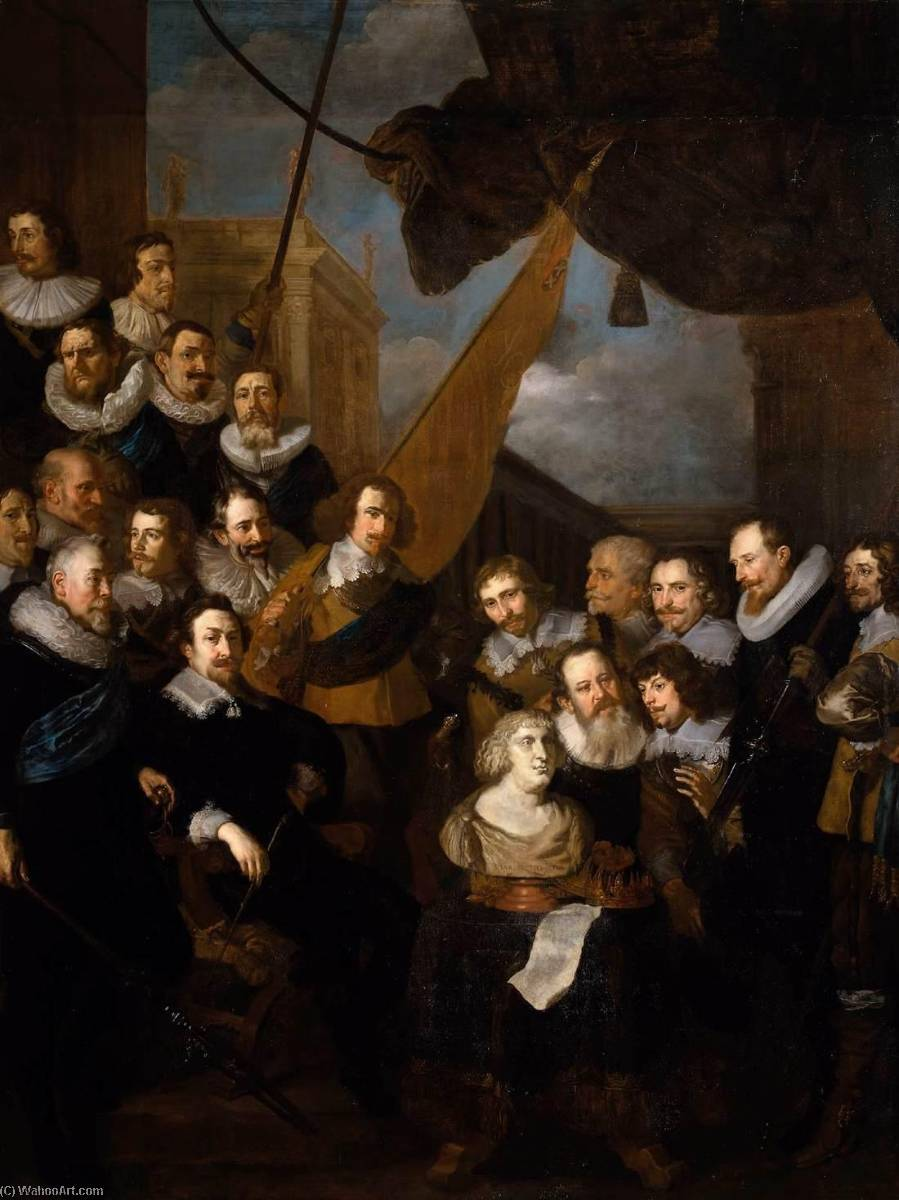 Captain Bicker`s Company Waiting to Welcome Marie de Medicis in September 1638, 1638 by After Joachim Von Sandrart (1606-1688) | Reproductions After Joachim Von Sandrart | WahooArt.com