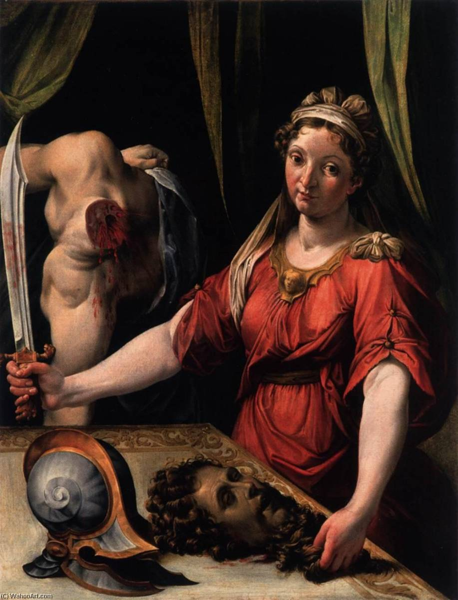 Judith with the Head of Holofernes, 1562 by Lorenzo Sabatini (1530-1576) | Paintings Reproductions Lorenzo Sabatini | WahooArt.com