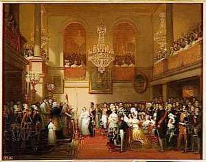 MARIAGE DU ROI DES BELGES AU CHATEAU DE COMPIEGNE.9 AOUT 1832