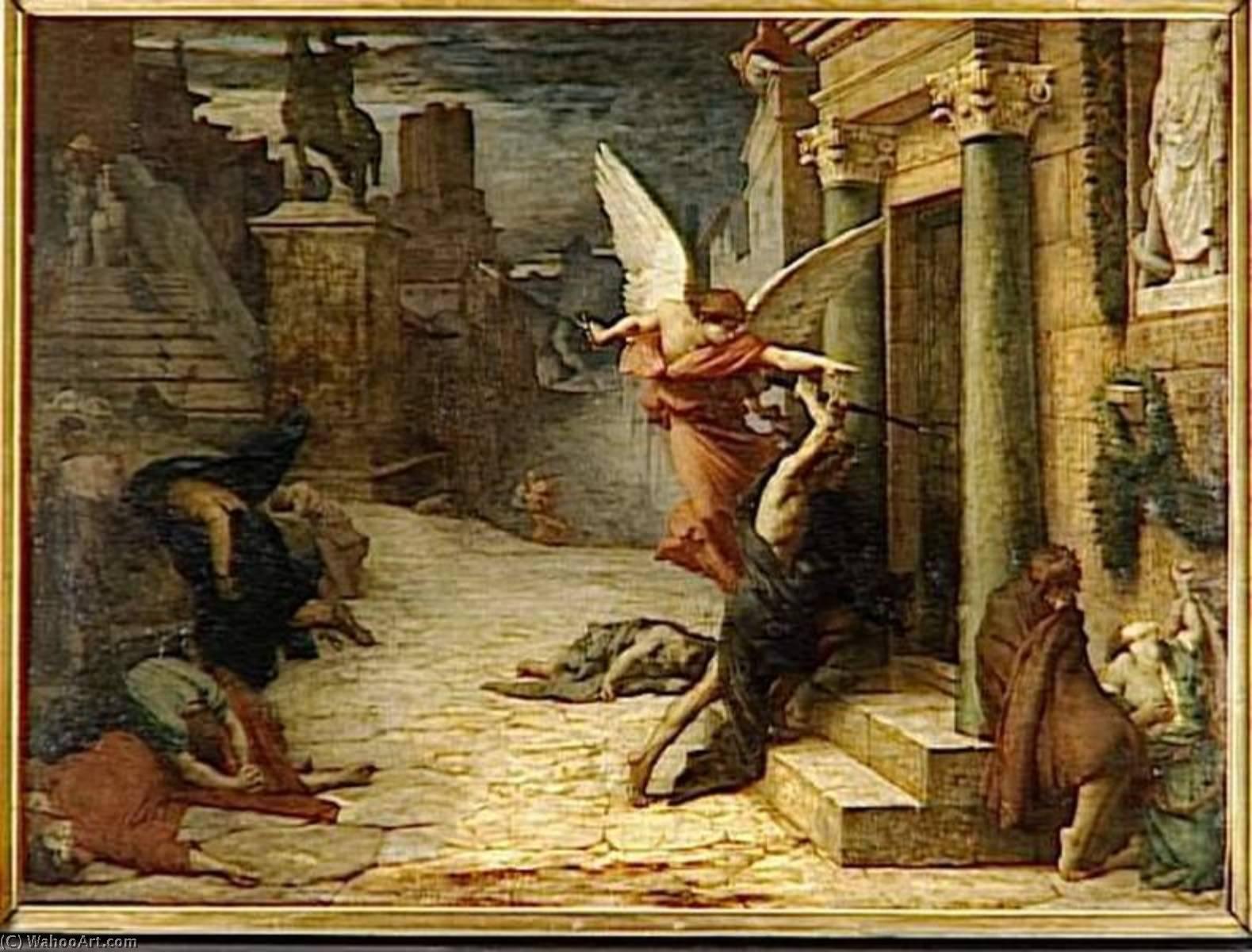 Peste à Rome by Jules Elie Delauney (1828-1891, France)   Oil ...