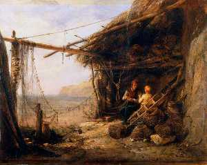Edward William Cooke - Mending the Bait Nets, Shanklin
