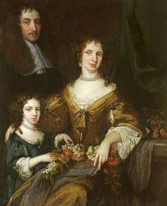 Jacob Huysmans - Dr Peter Barwick (1619–1705), His Wife, Anne and Daughter, Mary (1661 1662–1721 1723), Later Lady Dutton