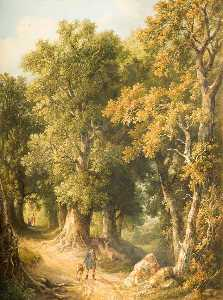 Robert Ladbrooke - An Oak Glade