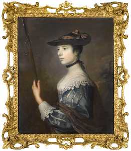 Joshua Reynolds - Portrait of Anne Sneyd (d.1784), as a Shepherdess