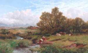 James Peel - Landscape with Cows