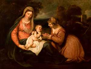 William Hilton Ii - The Holy Family (after Jacopo Palma il vecchio)