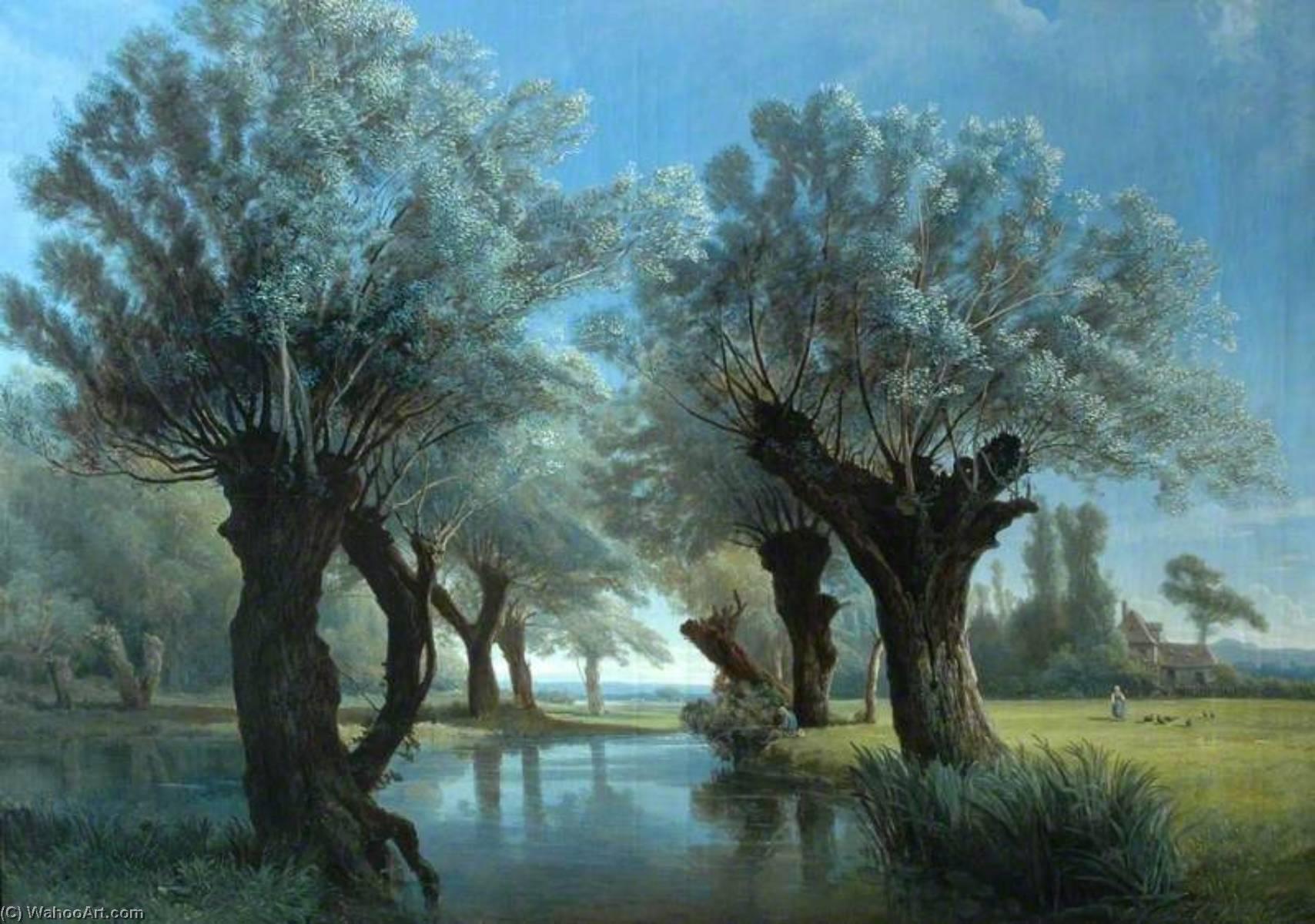 Resultado de imagen de río y árboles arte
