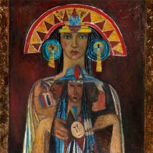 Eagle and Jaguar (Sun Goddess)