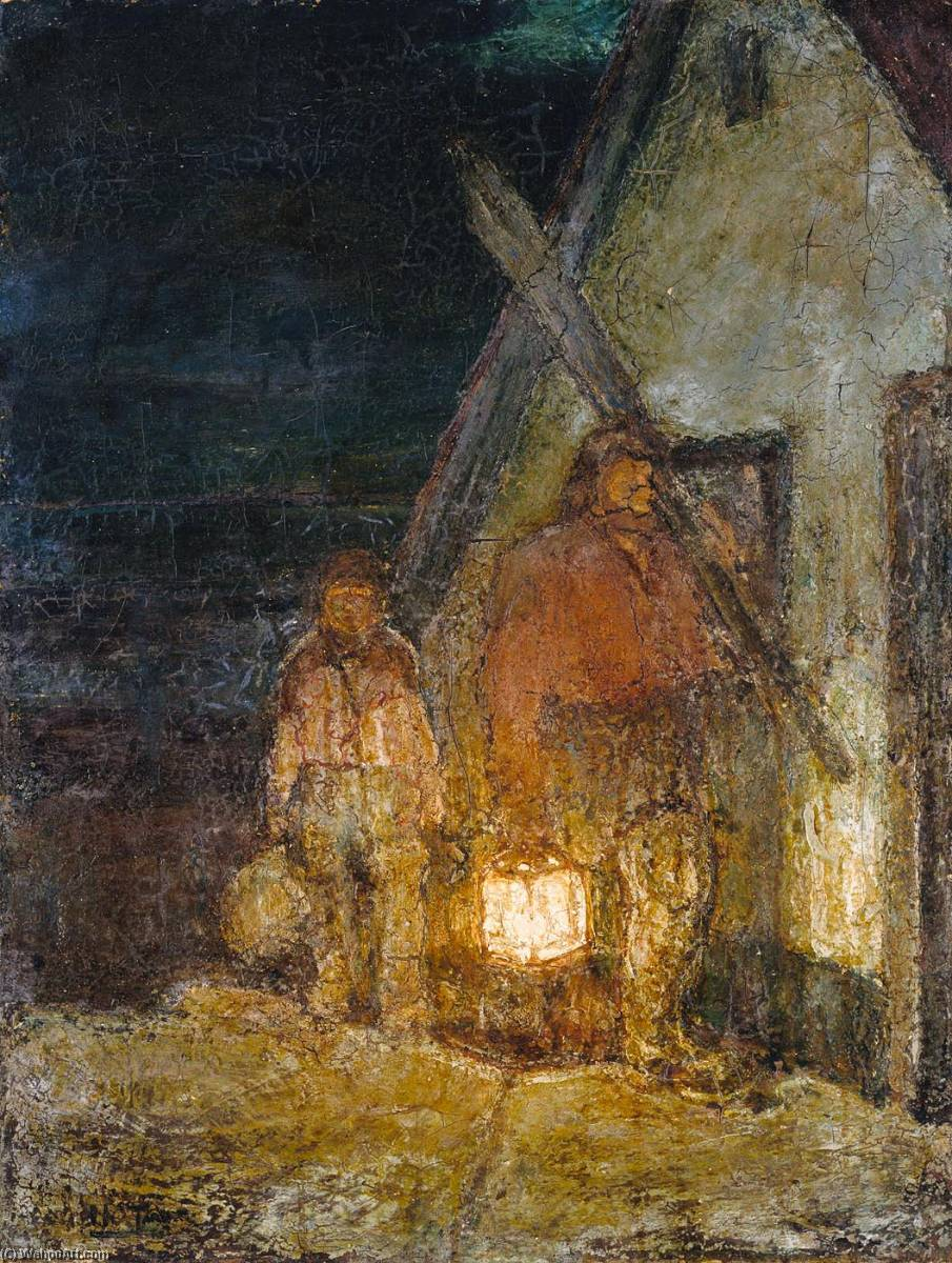 The Fisherman`s Return by Henry Ossawa Tanner (1859-1937, United States) | Reproductions Henry Ossawa Tanner | WahooArt.com