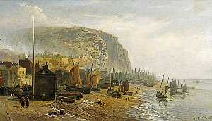 William Henry Borrow - Hastings Beach, East Sussex