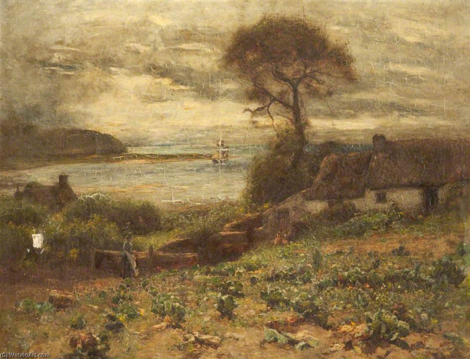 The Fisherman`s Cottage, Deganwy by Joshua Anderson Hague | Museum Quality Copies Joshua Anderson Hague | WahooArt.com