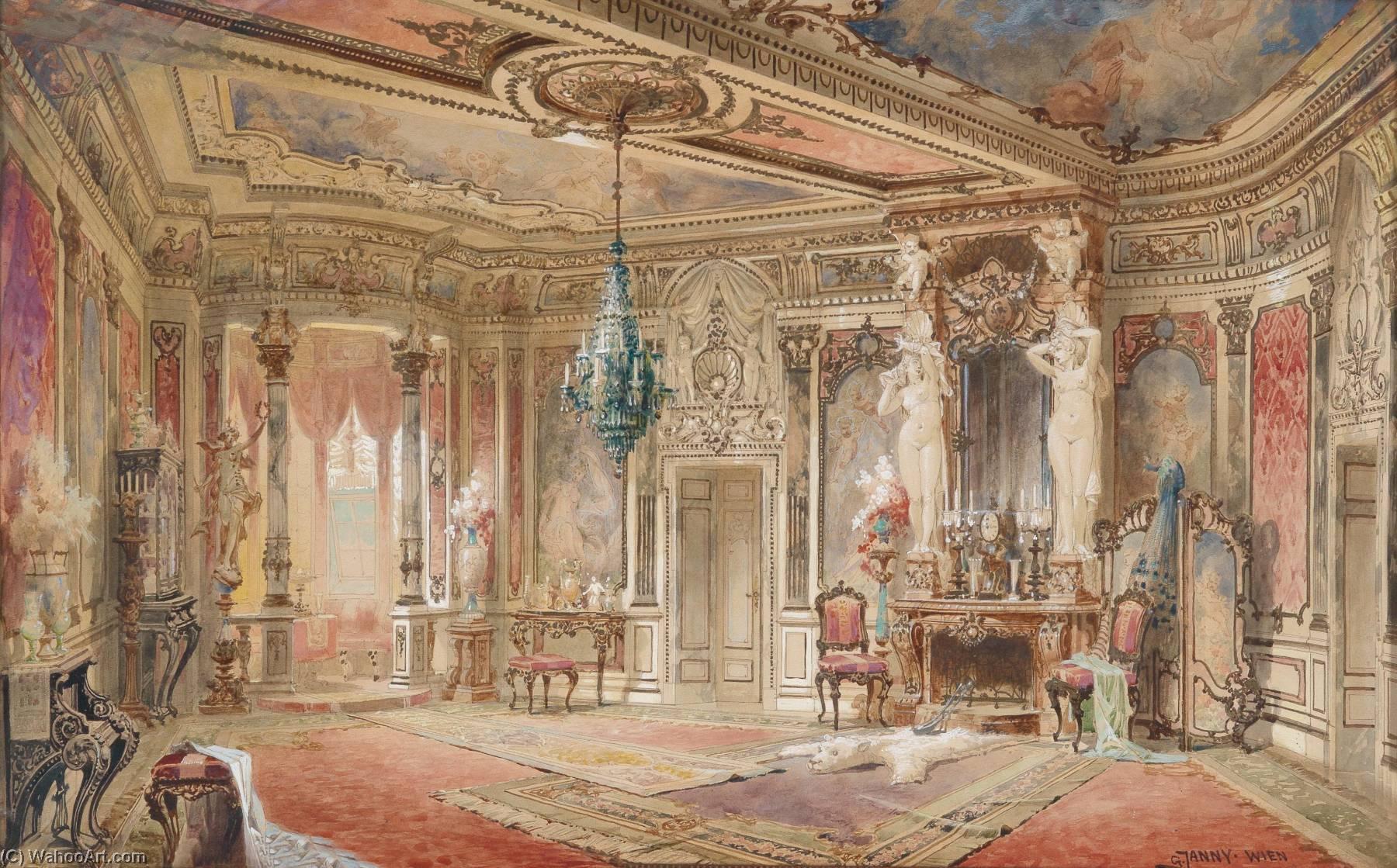 deutsch interieur salon ich bin Makartstil von Georg Janny   Malerei ...