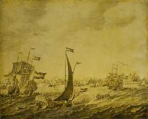 Shipping off Delftshaven