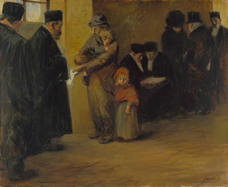 Legal Assistance, 1900 by Jean Louis Forain (1852-1931, France) | Oil Painting | WahooArt.com