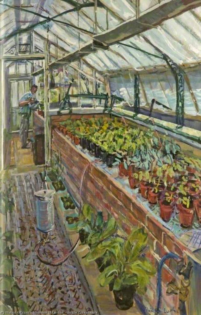 In the Greenhouse by Vivienne M Luxton | Reproductions Vivienne M Luxton | WahooArt.com