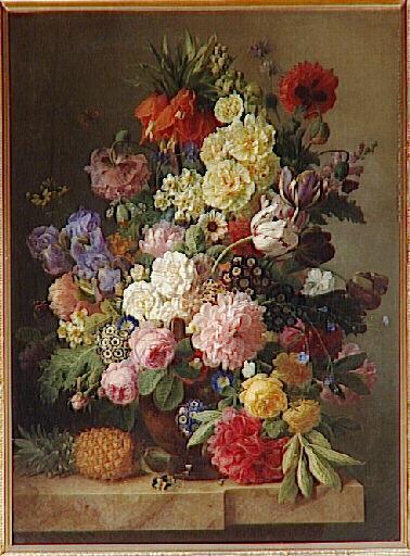 Fiori sur une consolare de marbre avec onu ananas di Jan Frans Van ...
