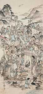 Nagasawa Rosetsu - Drinking Festival of the Eight Immortals