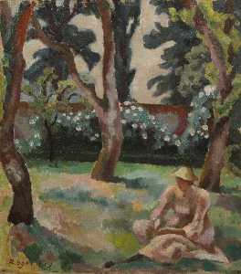 Roger Eliot Fry - Orchard, Woman Seated in a Garden