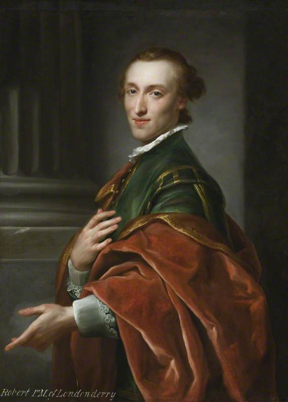 Robert Stewart (1739–1821), Later 1st Marquess of Londonderry, 1758 by Anton Raphael Mengs (1728-1779, Czech Republic) | Museum Art Reproductions Anton Raphael Mengs | WahooArt.com
