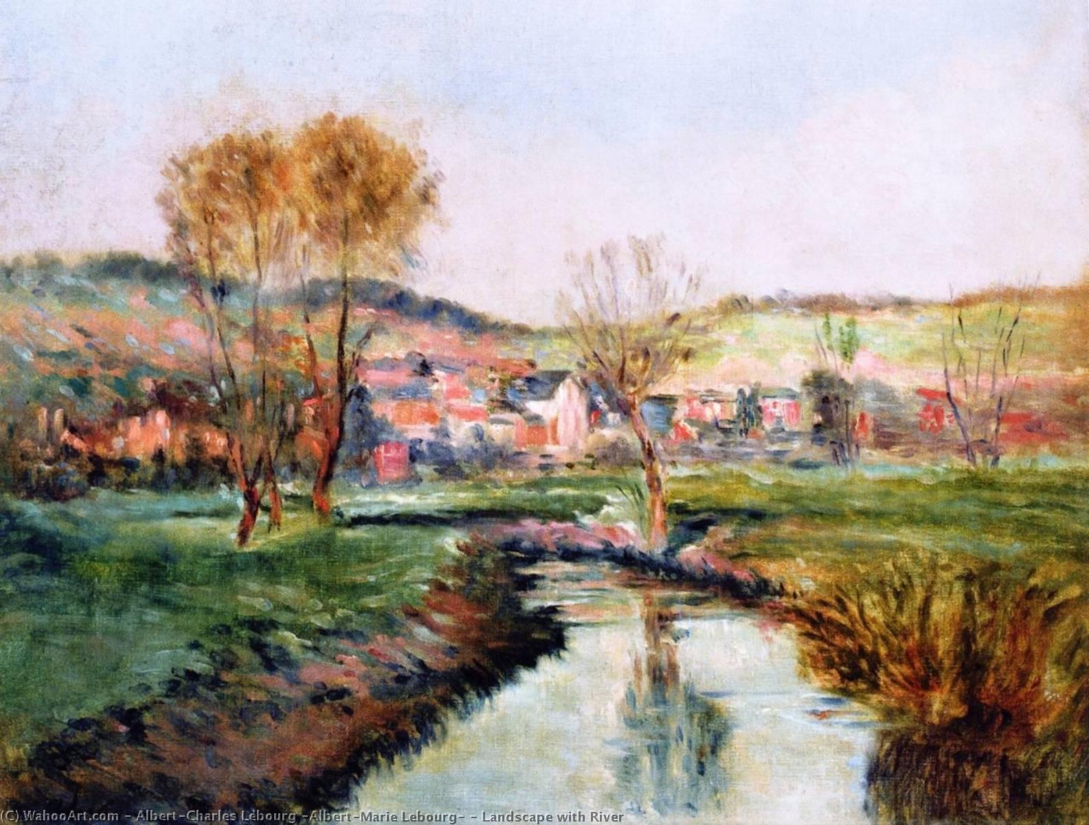 paesaggio con fiume di Albert-Charles Lebourg (Albert-Marie Lebourg ...