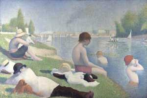 Georges Pierre Seurat - Bathers at Asnières - (oil painting reproductions)
